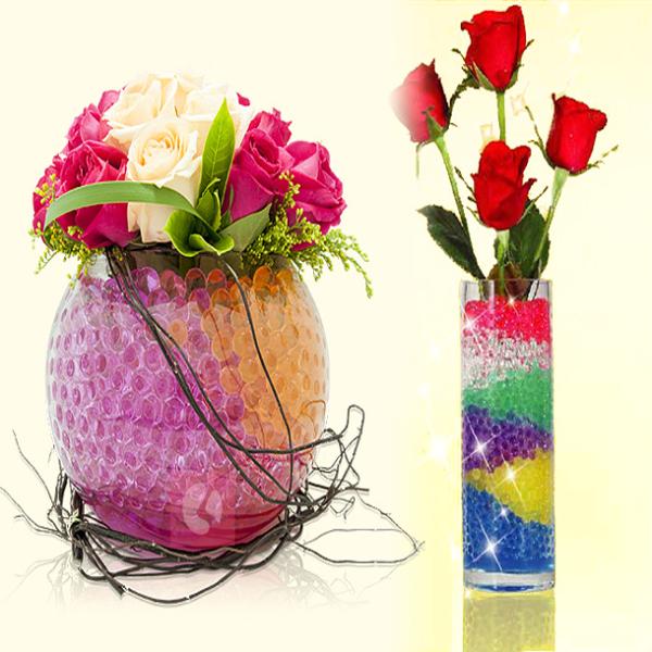 【9種顏色】圓形珠香晶球(1包10公克).水晶泥.水晶花泥.水晶營養泥.水晶寶寶.水培專用營養.