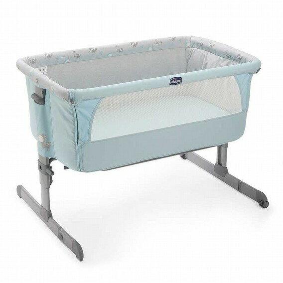 義大利【Chicco】Next 2 Me多功能移動舒適嬰兒床(湖水藍)*新色上市(預購1月中到) - 限時優惠好康折扣