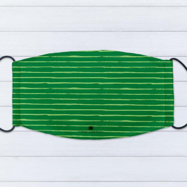 [ IHERMI ] 個性口罩 / 幾何綠橫線 / 愛好蜜 MIT台灣製造好安心 環保染劑使用 極細緻印染技術 0