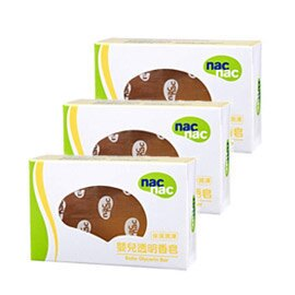 Nac Nac寶貝可愛 嬰兒透明香皂75g(3個/組)