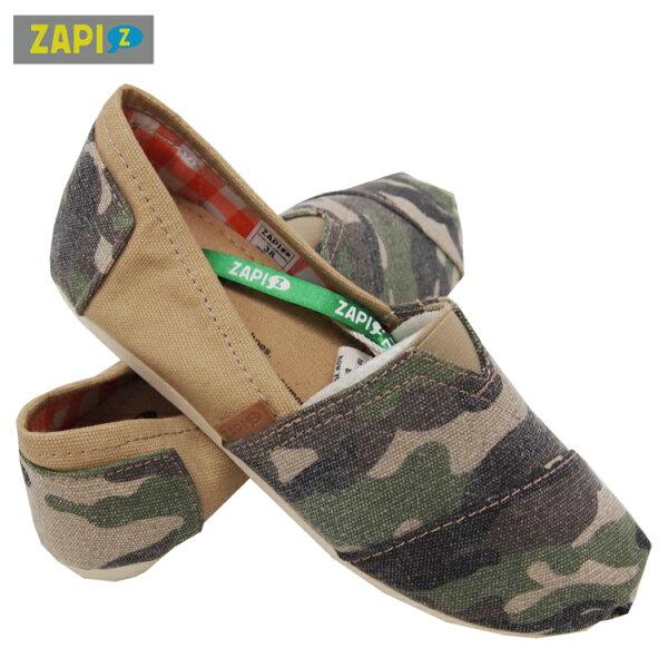 ZAPI休閒懶人鞋-卡其迷彩綠