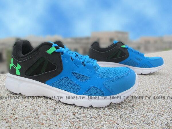 Shoestw【1258794-481】UNDER ARMOUR UA 慢跑鞋 Thrill 藍黑 基本款 室外