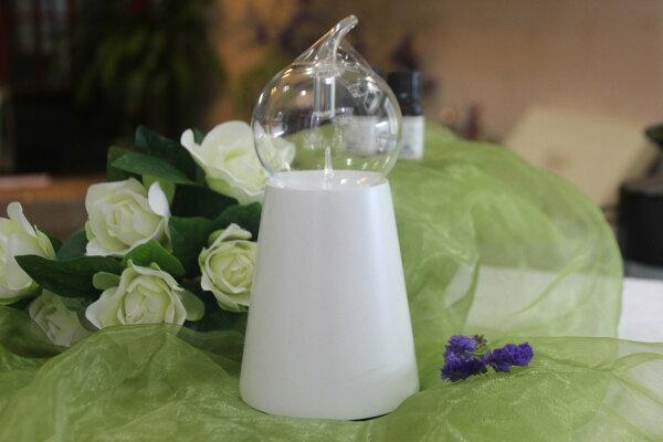 【希翠斯精油】泡泡瓶+圓柱白色座 擴香儀