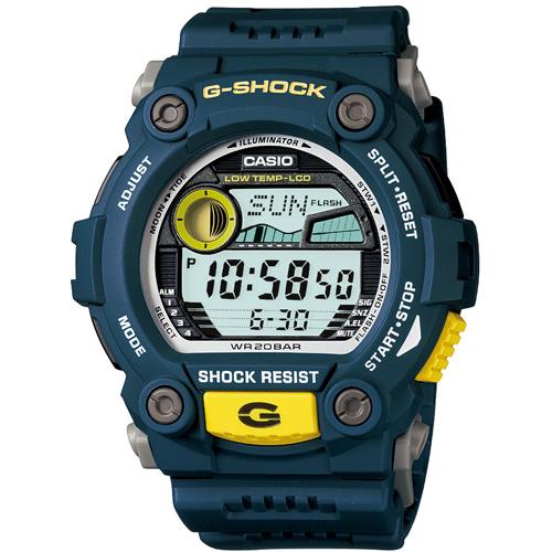 CASIO G-SHOCK G-7900-2經典潮汐月齡數位腕錶/52.4*50mm