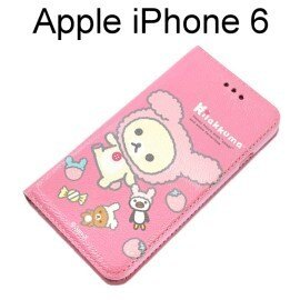 拉拉熊 懶懶熊側掀皮套 [玩偶粉紅熊] iPhone 6 / 6S (4.7吋)【San-X正版授權】