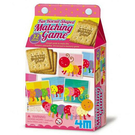 【4M 創意 DIY】Fun Biscuit Shaped Matching Game-Caterpillar 餅乾配對遊戲 - 毛毛蟲邏輯