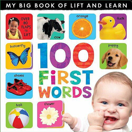 【英國Caterpillar原文童書】My Lift-the-flap 100 First Words 翻翻書