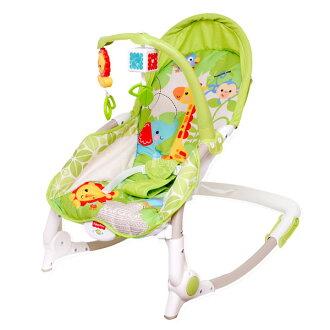 【費雪牌 Fisher Price 】熱帶雨林好朋友可攜式兩用安撫躺椅