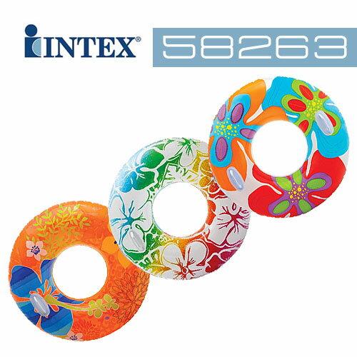 【INTEX】38吋花色透明浮圈-不挑款 (58263)