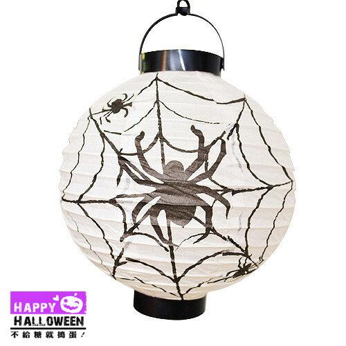 【派對服裝-紫標】吊飾-紙燈籠(白-蜘蛛)( 派對服裝系列滿額599元加送南瓜糖袋1個 )