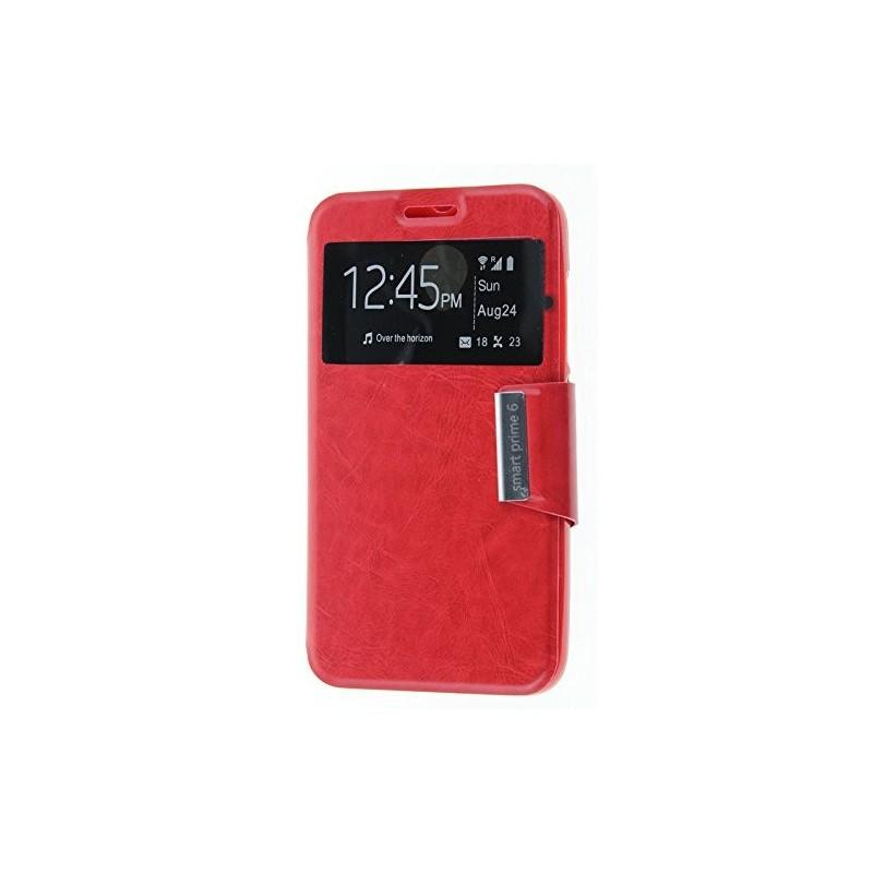 Funda CUERO Tipo LIBRO VENTANA Stand Vodafone Smart Prime 6 / Alcatel One Touch Pop 2 (5) 3