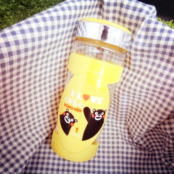 PGS7 日本卡通系列商品 - 熊本熊 玻璃 把手杯 Kumamon 水杯 玻璃杯 杯子