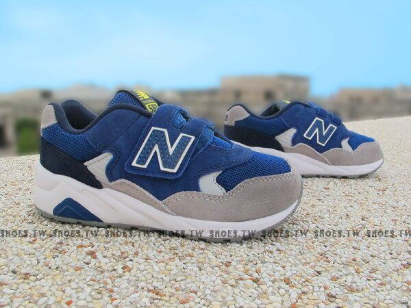 Shoestw【KV580LEP】NEW BALANCE 580 復古慢跑鞋 童鞋 運動鞋 中童 藍灰