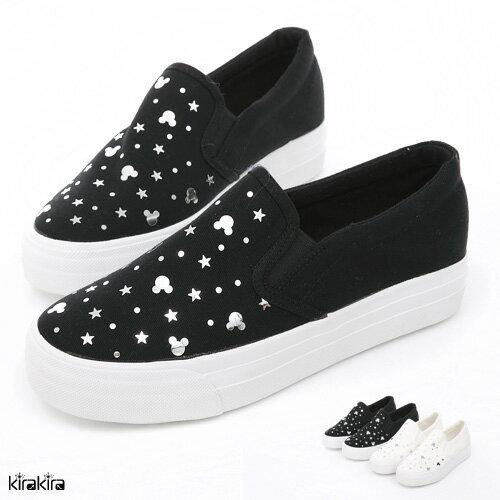 懶人鞋-銀飾星星圓點卡通舒適Q軟平底休閒鞋 版型偏小【011600167】