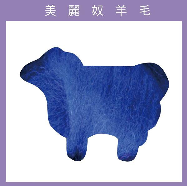 紐西蘭ASHFORD-美麗奴羊毛 M30藍色
