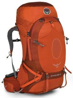 【鄉野情戶外專業】 Osprey |美國|  ATMOS AG 65 輕量登山背包 男款/自助旅行背包 健行背包 網架背包/Atmos65AG 【容量65L】