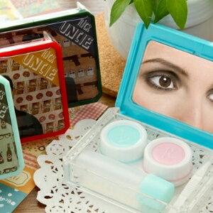 美麗大街【BF027E6E1】新款瑞克大叔隱形眼鏡盒 伴侶盒 時尚美觀美瞳護理盒
