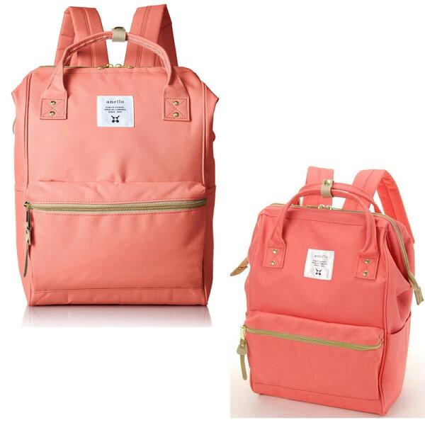 anello 粉色 日本帶回正版 帆布水洗 大後背包 寬27×高40×厚14cm AT-B0193A