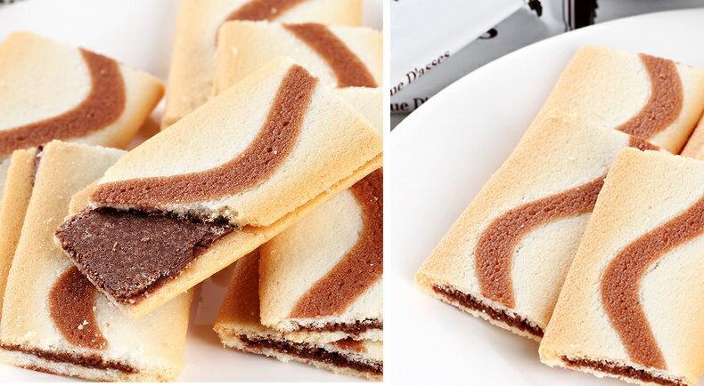 有樂町進口食品 日本 三立薄燒巧克力夾心薄餅 J55 4901830351804 6