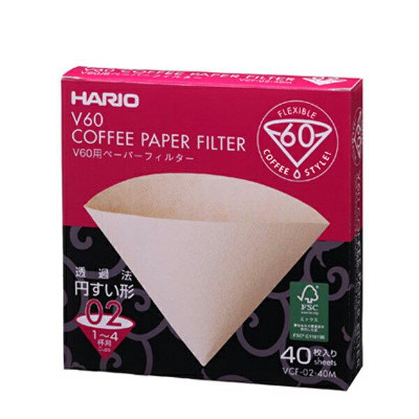 日本Hario咖啡濾紙1-4人份40張入(VCF-02-40M)