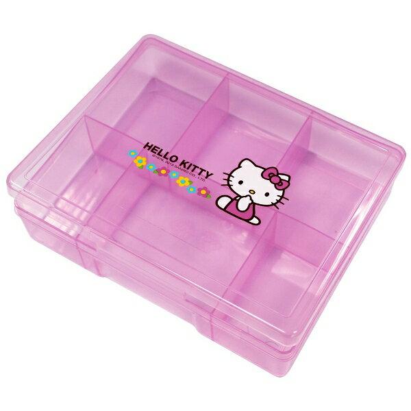 Hello Kitty小花六格收納盒KT0012