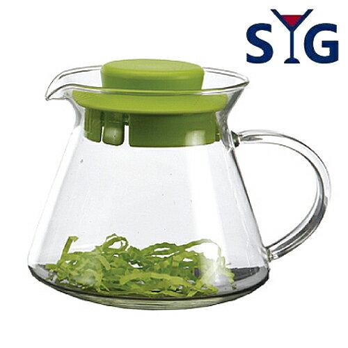 SYC精緻耐熱花茶壺BHG360S-綠蓋