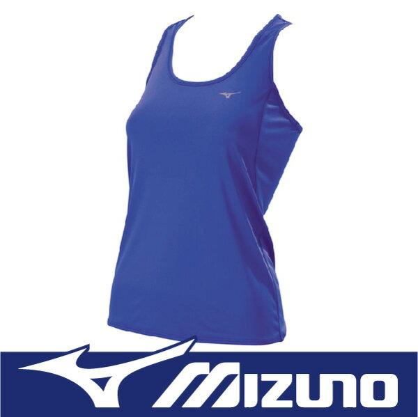 【出清65折!】萬特戶外運動 MIZUNO美津濃 J2TA620424 女路跑背心 吸汗快乾 抗紫外線UPF25 舒適 新藍紫色