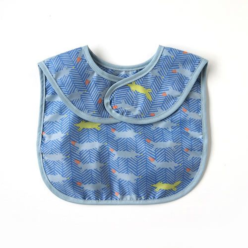 Hoppetta - 元氣小狐狸餐圍兜 (藍) 5