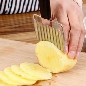 美麗大街【BF075-3】不銹鋼手動切菜器 波浪形切刀切片切絲器