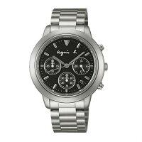 agnès b.到agnes b VD53-KQ00D(BT3012X1)法式時尚計時腕錶/黑面40mm