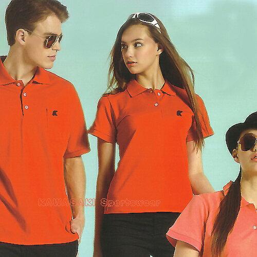 日本名牌Kawasaki男女運動休閒棉質短POLO衫(紅-K2220A-男版.KW2220A-女版) - 限時優惠好康折扣