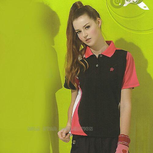 MILD STAR 女版吸濕排汗短POLO衫-黑-LS5012-66 0