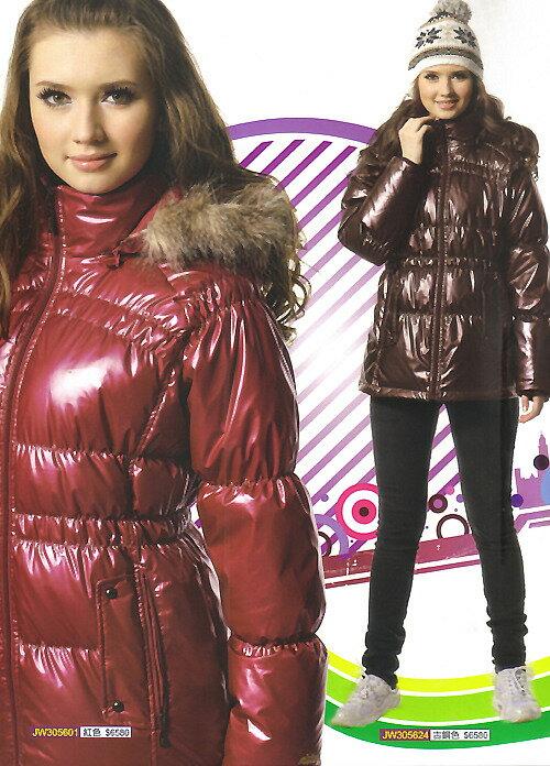 MILD STAR 女版休閒羽絨外套-#JW305601-紫紅.#JW305624-古銅 - 限時優惠好康折扣