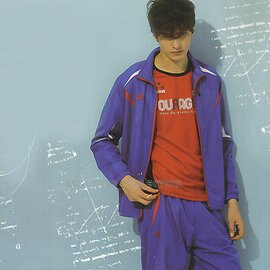 MILD STAR 男女網裡運動服套裝[全套]-寶藍#JS500305+PS500505 0