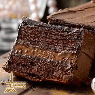 """法國的秘密甜點~""""成人級的巧克力大作""""80%經典迦納可可純手工蛋糕 1"""