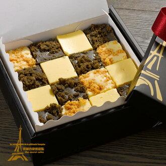 """【法國的秘密甜點】巴黎寶石水晶生乳酪蛋糕""""含運組"""",香濃生乳酪蛋糕綜合口味,原味/黑芝麻/芒果一次滿足! 規格550g"""