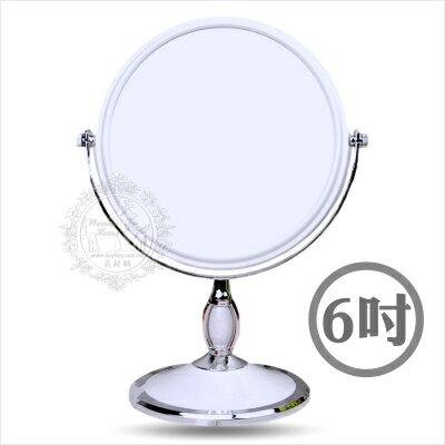【雙面立鏡】圓形精緻雙面旋轉立鏡-6吋 [49783]◇美容美髮美甲新秘專業材料◇