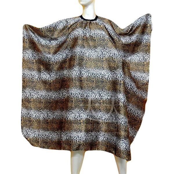 加大鬆緊帶扣環豹紋絲質剪髮圍巾 [22856] ::WOMAN HOUSE::