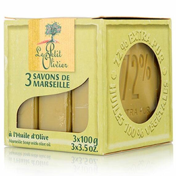 小橄欖樹馬賽香皂 100g*3(橄欖) [44910] ::WOMAN HOUSE::