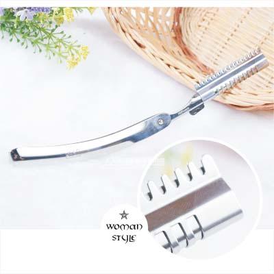 三和日本貝印剃頭刀架(不繡鋼製)-單支 [47518]另售羽毛刀片