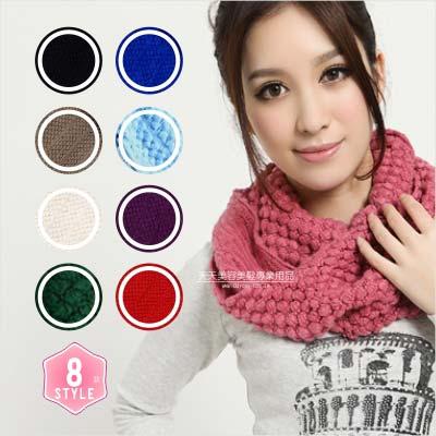 【寒冬必備】多功能造型針織保暖圍巾.圍脖(8色) [63869]◇美容美髮美甲專業材料◇