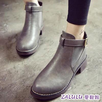 側邊小V尖頭磨砂踝靴
