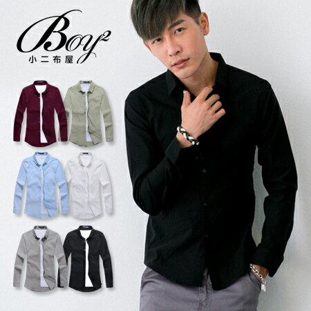 ☆BOY-2☆【NR92010】紳士質感素面修身長袖襯衫 0