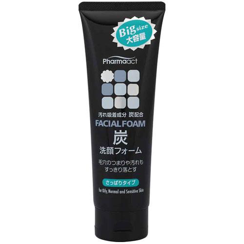 """日本熊野油脂- 新""""炭""""去皮脂洗面乳160g"""