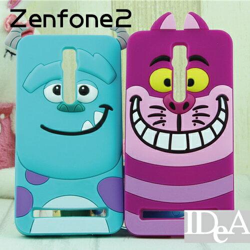 迪士尼 ZenFone2 5.5吋 可愛人物立體大頭矽膠保護套 卡通手機殼 TPU 華碩 ASUS Disney 毛怪 妙貓 跳虎