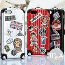 IDEA iPhone5S 登機箱造型手機殼 保護殼 軟殼 硬殼 悠遊卡 拉桿箱 行李箱 DIY 貼紙 Rimowa 旅行箱