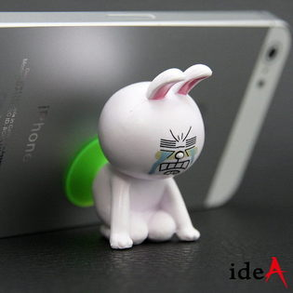 LINE 超可愛吸盤式手機架 立架 熊大 兔兔 饅頭人 Apple iPhone4S 5 HTC Samsung SONY 可用
