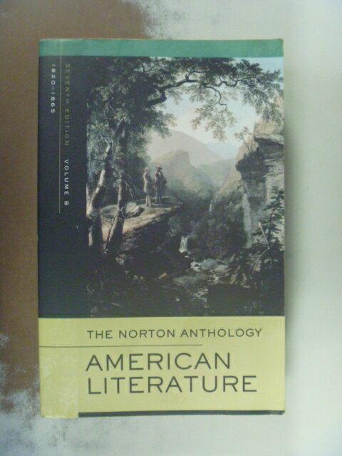 ~書寶 書T4/大學文學_NIU~The Norton Anthology America