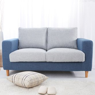 【迪瓦諾】貓抓布沙發 2人 /  3人 / 藍灰/台灣製 / 可訂做 - 限時優惠好康折扣