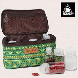 【鄉野情戶外用品店】 KAZMI |韓國| 經典民族風調味料收納袋(L)/K5T3K002GN